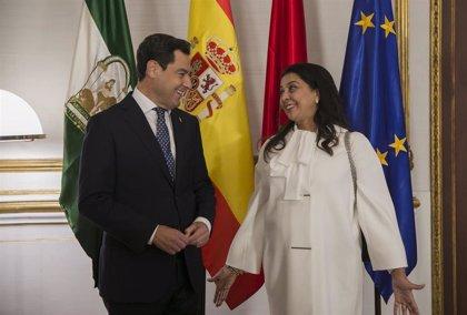 Juanma Moreno se reúne en San Telmo con la embajadora de Marruecos en España