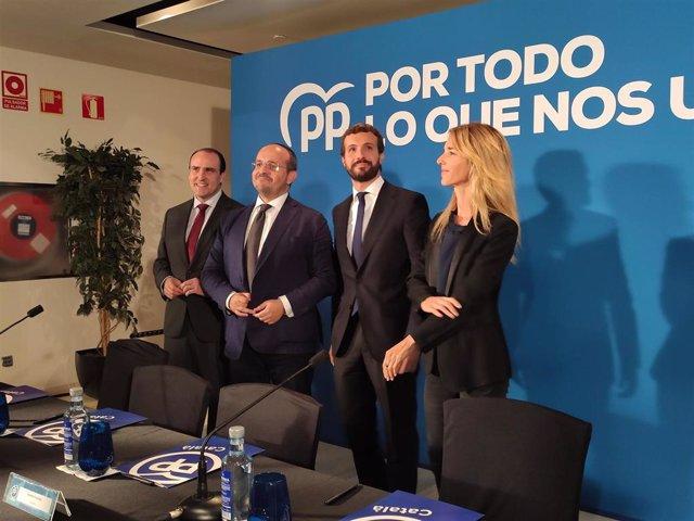 Daniel Serrano, Alejandro Fernández, Pablo Casado y Cayetana Álvarez de Toledo (PP