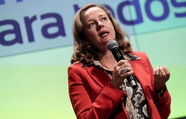 La ministra d'Economia en funcions, Nadia Calviño.