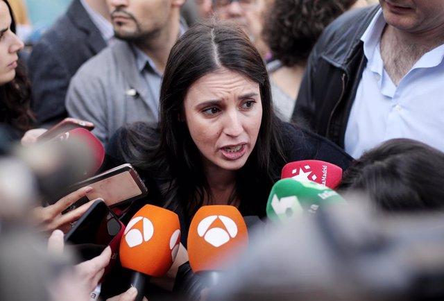 La portaveu d'Unides Podem al Congrés dels Diputats, Irene Montero
