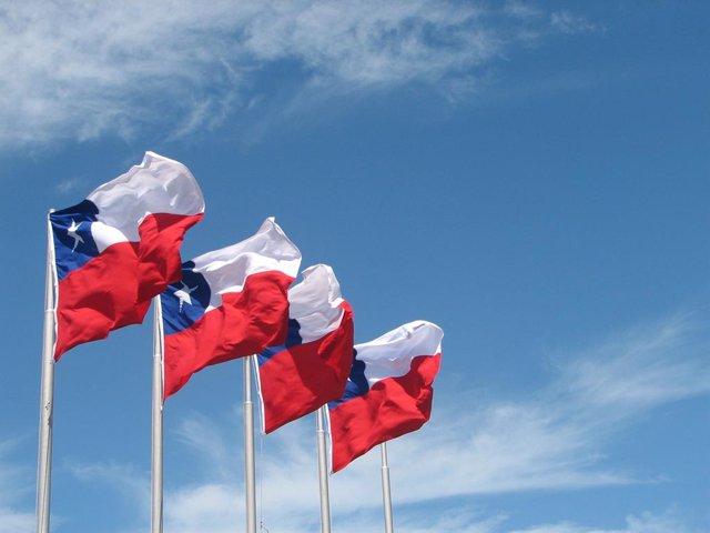 Banderes de Xile.