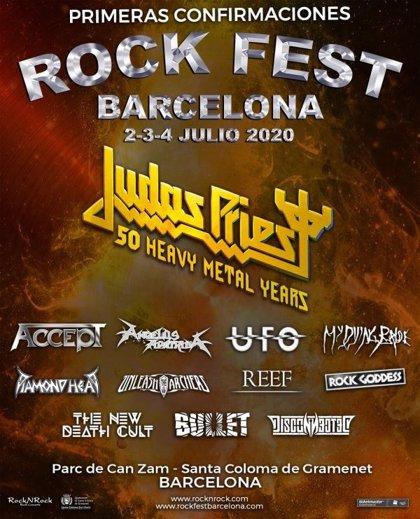 Rock Fest Barcelona 2020 tendrá a Judas Priest, UFO, Diamond Head, Angelus Apatrida y My Dying Bride