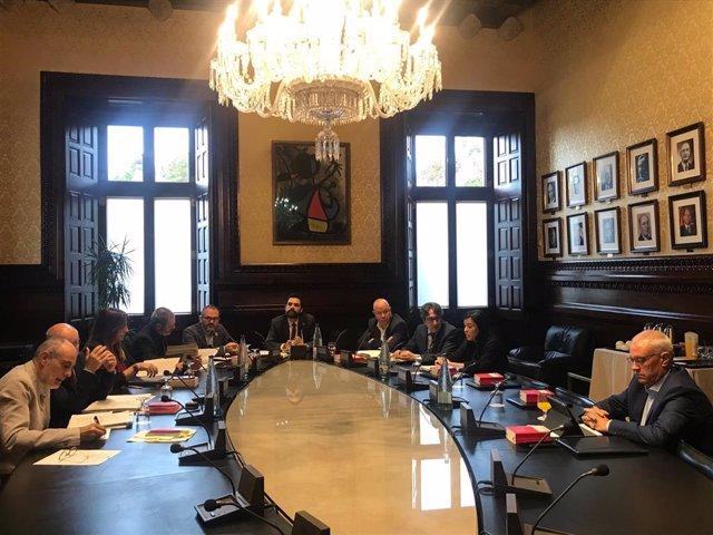 Reunió de la Mesa  del Parlament el 22 d'octubre de 2019
