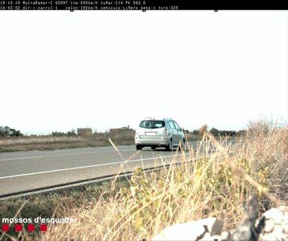 Denunciado un conductor por circular a 192 kilómetros por hora en Ciutadilla (Lleida)
