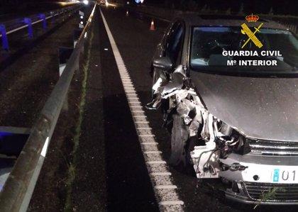 Detenido un menor tras sufrir un accidente mientras conducía ebrio un vehículo sustraído