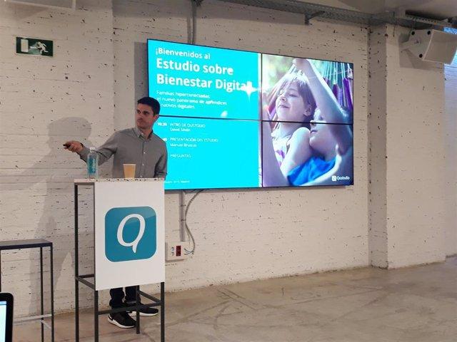 Presentación del estudio de Qustodio sobre familias conectadas y bienestar digital