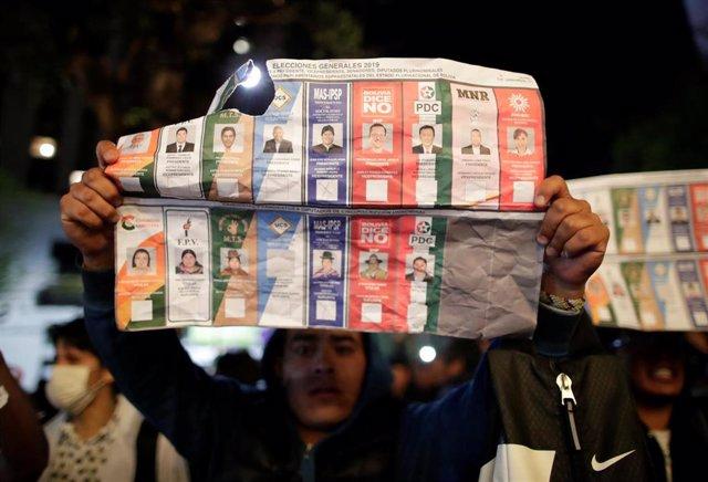 Protestas tras las elecciones en Bolivia