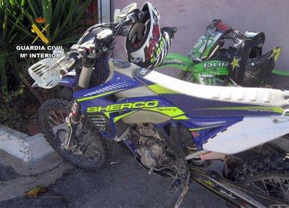 Guardia Civil controla la circulación de motocicletas y otros vehículos por el medio natural