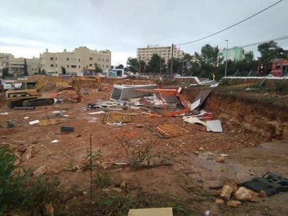 Un 'cap de fibló' deja heridos leves a tres obreros que trabajaban en Ibiza