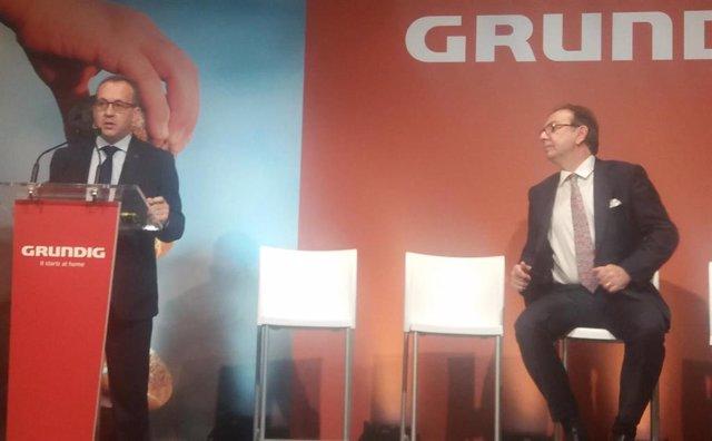Director de Marketing de Grundig en Iberia, Manuel Royo, en el evento de la marca este martes