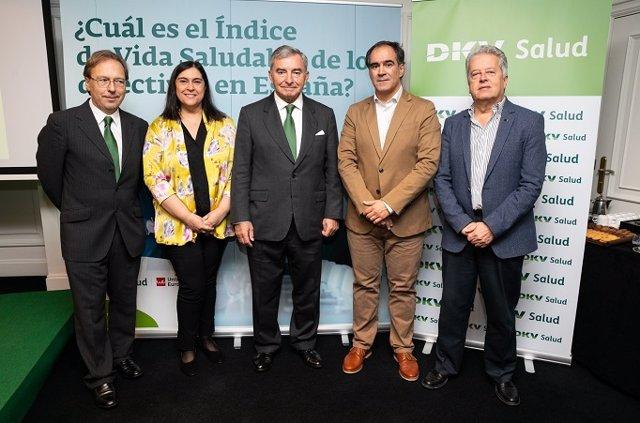 Presentación del estudio '¿Cuál es el Índice de vida saludable de los directivos en España?' a cargo de la Universidad Europea y DKV Seguros, en Madrid.