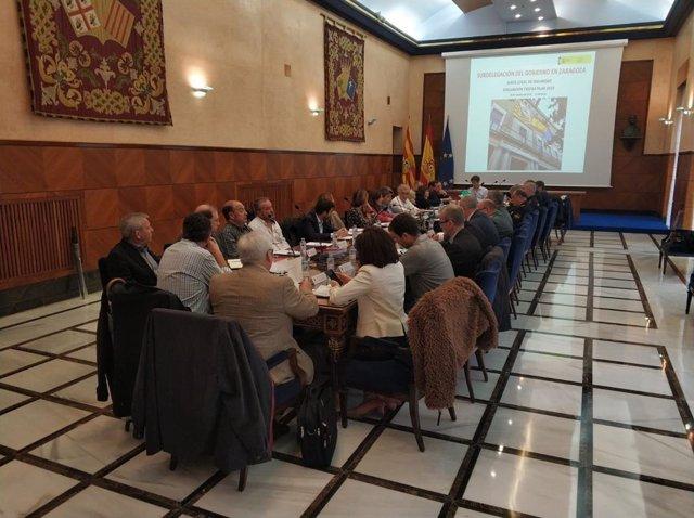 Reunión de la Junta Local de Seguridad de Zaragoza.