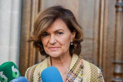 Carmen Calvo participa el jueves en un acto del PSOE de Valladolid