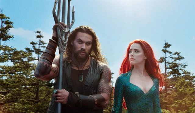 Jasomo Momoa y Amber Head en Aquaman
