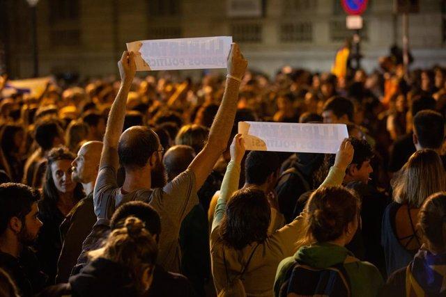 Foto d'arxiu de la quarta jornada de protestes a Barcelona contra la sentència del procés.