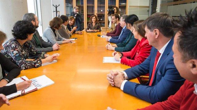 La consejera Ana Belén Álvarez se reúne en el ICASS con los representantes de las empresas y entidades prestadoras de servicios de atención a la dependencia y la discapacidad