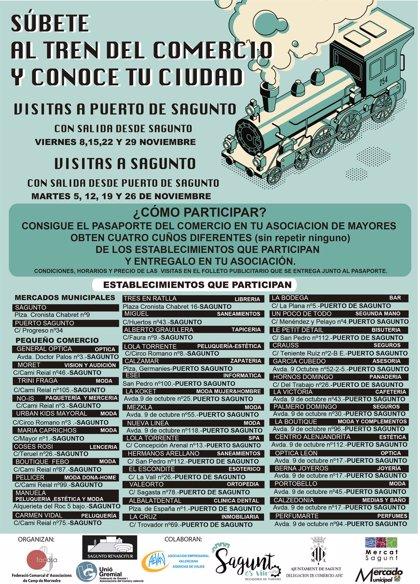 Un trenecito llevará a los mayores de Sagunt y el Puerto a conocer el comercio local del otro núcleo urbano