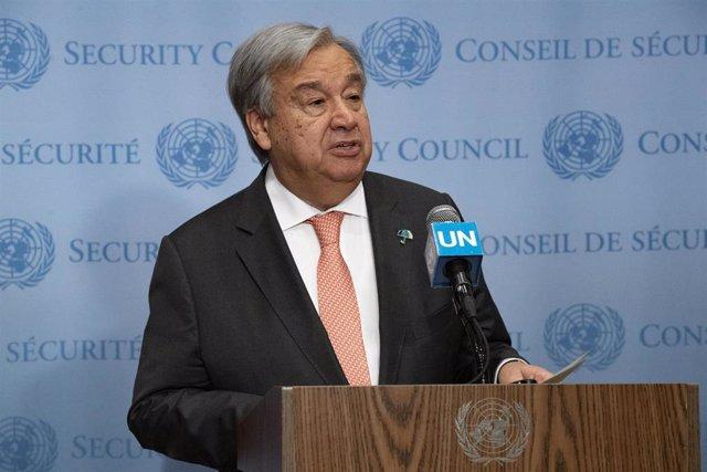 El secretario general de Naciones Unidas, Antonio Guterres