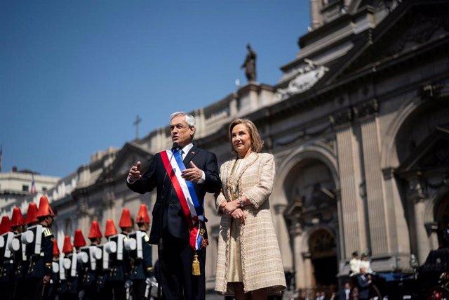 El presidente de Chile, Sebastián Piñera, y su mujer, Cecilia Morel