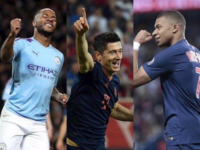 Fútbol/Champions.- (Crónica) Manchester City, Bayern y PSG acarician los octavos