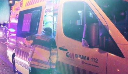 Un joven sufre la semiamputación de un brazo en un accidente de tráfico en la A-2 en Alcalá de Henares
