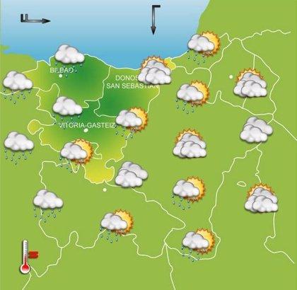 Jornada marcada por la inestabilidad, con lluvias intensas por la tarde este miércoles en Euskadi
