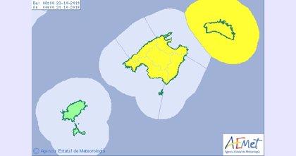 Mallorca y Menorca, en alerta amarilla por lluvias y fenómenos costeros