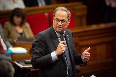 """Torra demana """"visió d'estat"""" a Sánchez després d'una cinquena trucada sense resposta (DAVID ZORRAKINO - EUROPA PRESS)"""