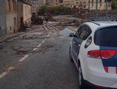 El temporal deixa 16.000 usuaris sense subministrament elèctric a Catalunya (MOSSOS D'ESQUADRA)