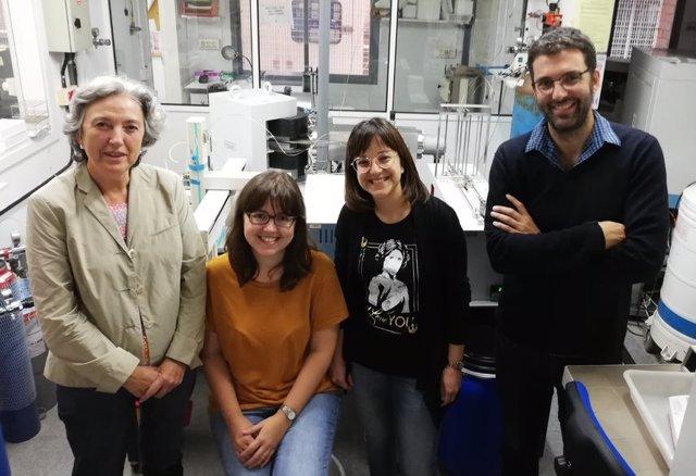 El equipo de investigación Teresa Vicent, Natlia Blázquez, Mnica Rosell y Ernest Marco