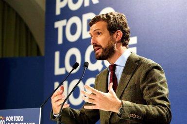 """Casado exigeix a Sánchez que """"adverteixi"""" Torra perquè compleixi la llei (Javier Escriche - Europa Press)"""