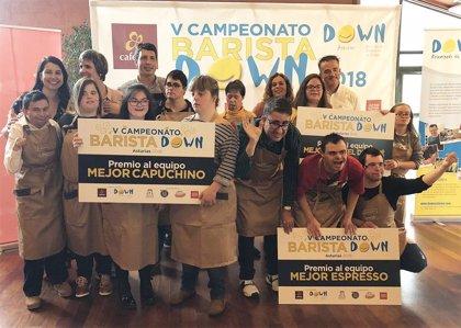 Quince jóvenes exhibirán sus habilidades en el mundo de café en el VI Campeonato Barista Down Asturias