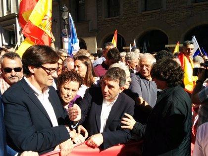 PSC y PSOE irán a la manifestación de Sociedad Civil Catalana el domingo