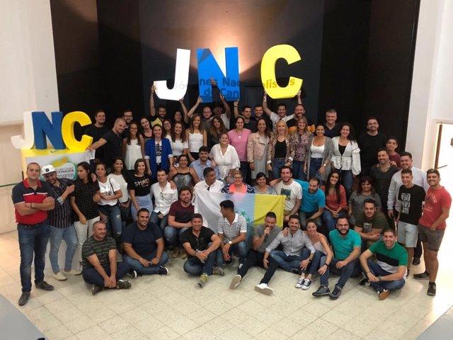 Hissada de bandera de JNC.