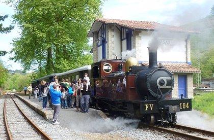 El Museo vasco del ferrocarril pondrá en circulación tres trenes de vapor el fin de semana