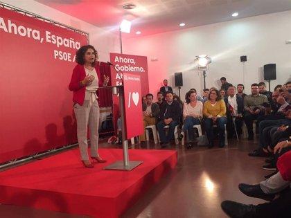 """Montero defiende que el PSOE es """"el único voto útil real"""" para """"avanzar"""" y contra el """"bloqueo"""" político"""