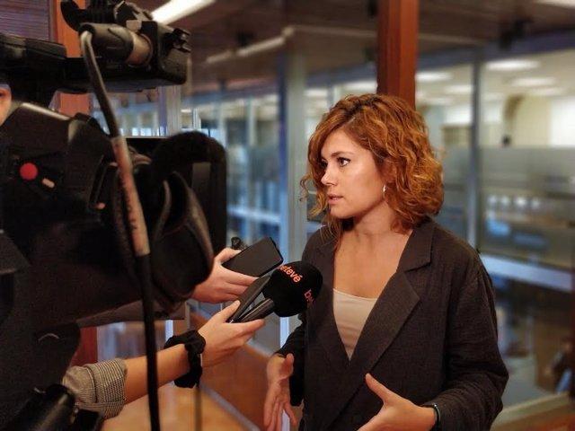 La regidora d'ERC Elisenda Alamany
