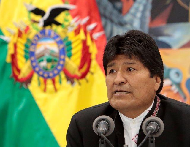 El presidente de Bolivia, Evo Morales, en una comparecencia
