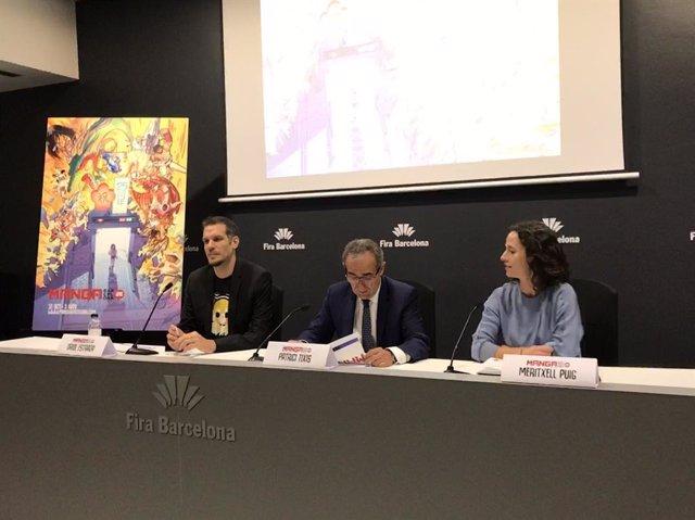 Roda de premsa sobre el 25 Màniga Barcelona amb O.Estrada, P.Tixis i M.Puig