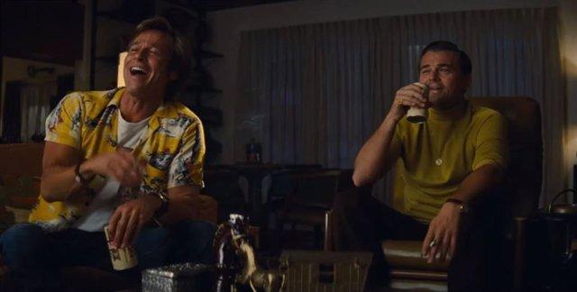 Leonardo DiCaprio y Brad Pitt en Érase una vez en... Hollywood