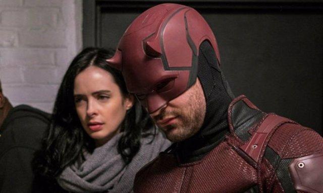 Jessica Jones y Daredevil en The Defenders