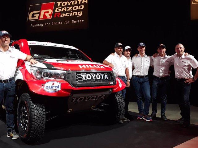 Presentació del Toyota Gazoo Racing per al Ral·li Dakar 2020 amb Fernando Alonso.
