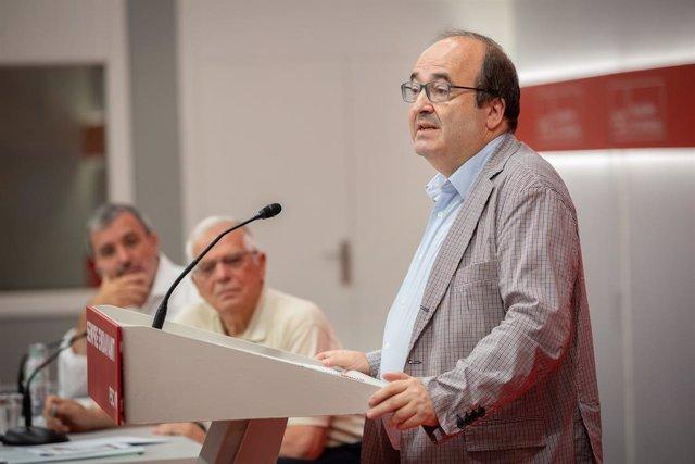 Jaume Collboni, Josep Borrell, Miquel Iceta (PSC)