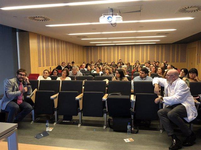 Un momento durante la IV Jornada de Oncogeriatría. Oncogeriatría y Prehabilitación, celebrada en el Hospital Universitario Rey Juan Carlos.