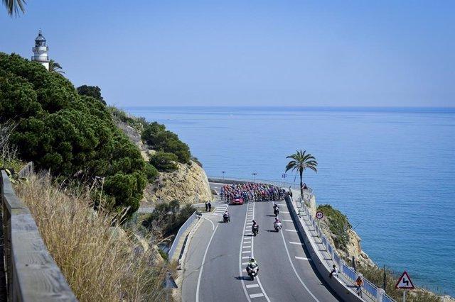 Imagen de la Volta a Catalunya 2018 a su paso por Calella