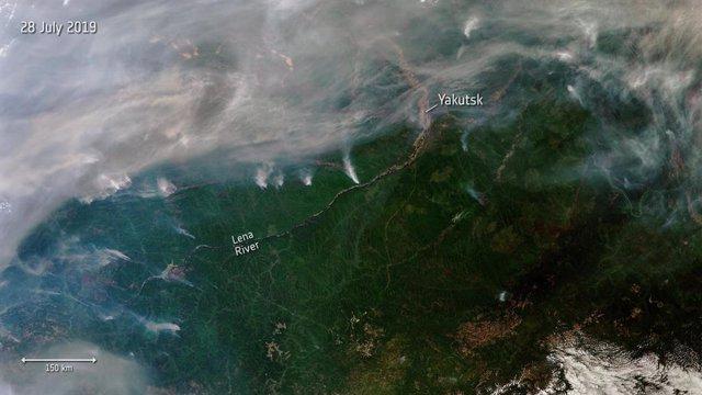 Cinco veces más incendios vistos desde el espacio en agosto de 2019