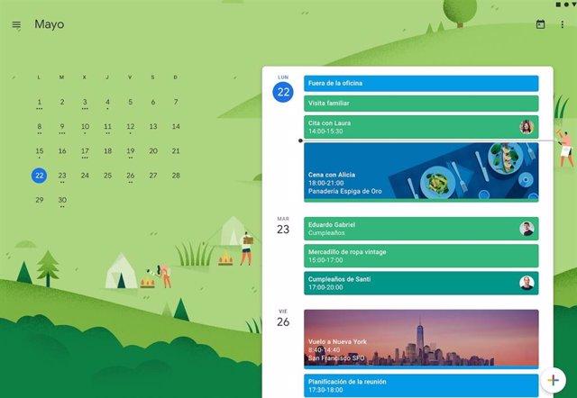 Google ya permite crear entradas de calendario directamente desde el navegador