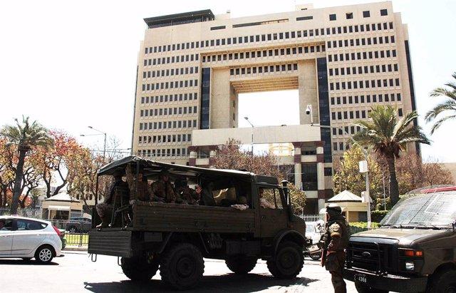 Chile.- Evacuado el Congreso de Chile por los disturbios en sus alrededores