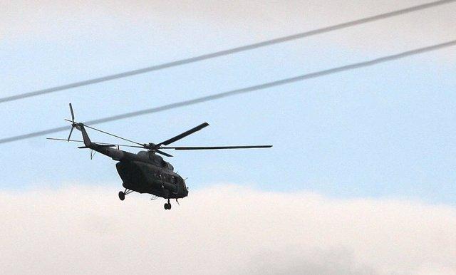 Helicóptero militar de Fuerza Aérea colombiana