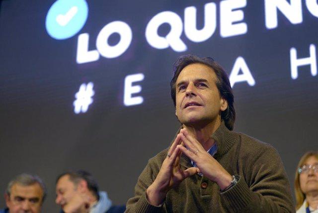 El candidato opositor de Uruguay Luis Lacalle Pou